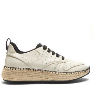 Tod's Leather & Espadrille Sole Trainers 38.5